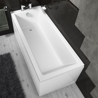 Pool Single End Straight 1700mm x 700mm Standard Bath - Square Style
